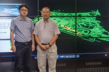 馬培峰博士(左)與他的導師中大大空所所長林琿教授。
