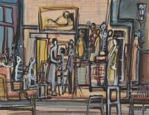 家居(在家) 1958年 水彩纸本 艺术家惠赠