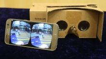 Students can go on the virtual fieldtrip via Google Cardboard or other head-mounted displays.