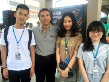 中大實習生參與由UNEP與曼谷地鐵公司合辦的公益活動「WILD FOR LIFE」。