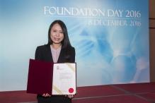 CUHK Prof. Kathy Lui receives the Croucher Innovation Award 2017.