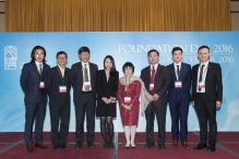 A group photo of Prof. Kathy Lui and CUHK members.