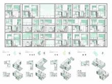 梁嘉琪《从圬工砌法到住区组织 – 重新定义新界的高密度住宅区》 香港的住宅发展,需要一个小缺口,去打破重覆、单一的形象。作品透过重新发掘圬工砌砖,跳出香港房屋固有的形态限制,创建出新的住屋单元和邻里组织。