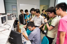 The students participate in the experiments.