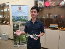 中大生物醫學工程學課程本科畢業生潘天樂。