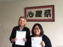 Prof. Catherine McBride (left) and Ms. Judy Leung, Department of Psychology, CUHK.