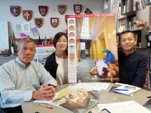 (From left) Prof. Edward NG, Dr. Li WAN and Xin'an CHI