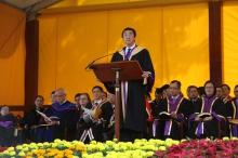 Prof. Joseph Sung, CUHK Vice-Chancellor delivers an address.