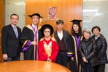 A group photo of Dr. CHAN Shuk-leung with CUHK members and guests