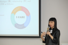 中大博群全人发展中心主任伍慧明女士介绍「博群践行者计划」。