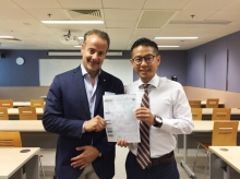 Dr. Adrian WONG (right) and Dr Ziad NASREDDINE, the author of MoCA