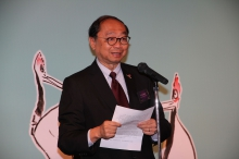 Professor Henry N.C. Wong, Head of New Asia College, CUHK delivers a speech.