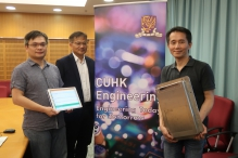 (From left) Mr. Tim Chan, Professor Cheng Chun-hung and Dr. Dorbin Ng from the Department of Systems Engineering and Engineering Management, CUHK.
