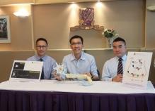 (From left) Professor Edwin Chan, Professor Kwok-fai Lau and Professor Jacky Ngo from the School of Life Sciences, CUHK.