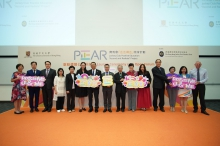 Professor Rocky S. Tuan, Mr. Leong Cheung, Professor Chi-yue Chiu, with members of the JC-PEAR Project Management Committee and representatives from the resource and partner schools