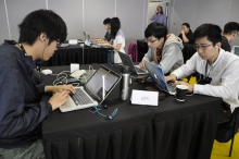 During the thirty-hour non-stop VXCON competition, the CUHK team exercises different skillsets in web, cryptography, reverse engineering, forensic, binary exploitation and smart contract.