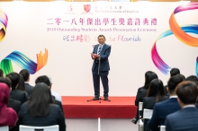 Professor Rocky S. Tuan, CUHK Vice-Chancellor and President, encourages students to pursue their own goals.