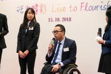 Student awardee Lee Ho Fei talks about his wheelchair marathon training experience.