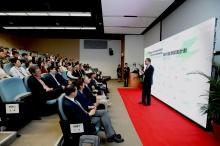 中大副校長兼校園可持續發展委員會主席吳樹培先生為「節約能源獎勵計劃」嘉許禮致歡迎辭