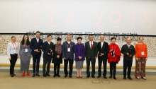 Mrs. Carrie Lam officiated at the opening ceremony of the 34th International Conference on Passive and Low-Energy Architecture and Urban Design, and presented the 2018 Annual Awards to the awardees.