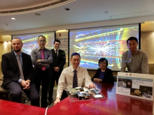 Hong Kong ATLAS research team members are: Dr. Kirill Prokofiev, Department of Physics, HKUST; Prof. Tao Liu, Department of Physics, HKUST; Prof. Luis Roberto Flores-Castillo, Department of Physics, CUHK; Prof. Ming Chung Chu, Department of Physics, CUHK; Dr. Yanjun Tu, Department of Physics, HKU; Prof. Kong Pang Pun, Department of Electronic Engineering, CUHK.