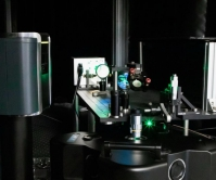 The experimental setup that measures the properties of quantum materials under extreme conditions.