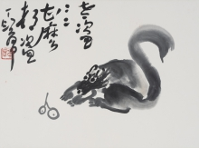 Exhibit highlight: Squirrel Thief by Ding Yin-yung