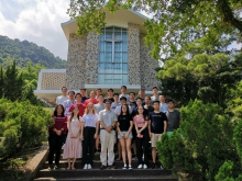 A group photo of Professor Zhang's research team at CUHK campus.