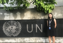 Bonnie Lee, a Scholarship recipient was selected by an internship programme organised by the United Nations with the University's recommendation and was given an internship place at a local institution in Vietnam.