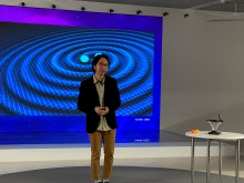 """Dr. Shiu Sing Tong from the Department of Physics speaks on the topic """"What Do Gravitational Waves Tell Us?""""."""