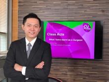 中大医学院外科学系泌尿外科组张源津医生以「外科医生的亲身体验」为题主讲。