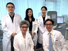 A large cohort study conducted by the Endocrinology and Diabetes team of CU Medicine has discovered that shortened DNA telomere length is a useful biomarker linked to a higher risk of developing cardiovascular disease in patients with type 2 diabetes.   In the photo are members of the research team: (front row, left to right) Professor Juliana CHAN, Chair Professor of Medicine and Therapeutics and Founding Director of the Hong Kong Institute of Diabetes and Obesity at CUHK; and Professor Ronald MA, Head, Division of Endocrinology and Diabetes, Department of Medicine and Therapeutics at CU Medicine.