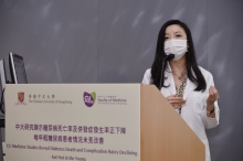 Dr. Andrea LUK, the lead investigator of the analysis, states that if the onset of diabetes can be delayed to 65 years old, the number of days patient spent in hospital in his or her lifetime can be reduced from 100 days to 29 days.
