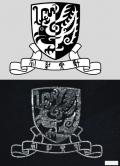 "Platinum ""Universal Ink"" printout of CUHK logo. (The scale bar represents 50um.)"