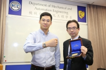 Research team members Prof. Wei-Hsin LIAO (right) and Dr. Mingjing CAI (left).