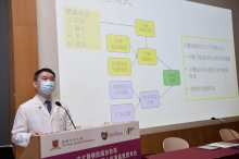 Professor Martin WONG explains that Health Belief Model has been adopted to the recent survey. This model can effectively predict the preventive health behavior or utilization of health services of individuals.