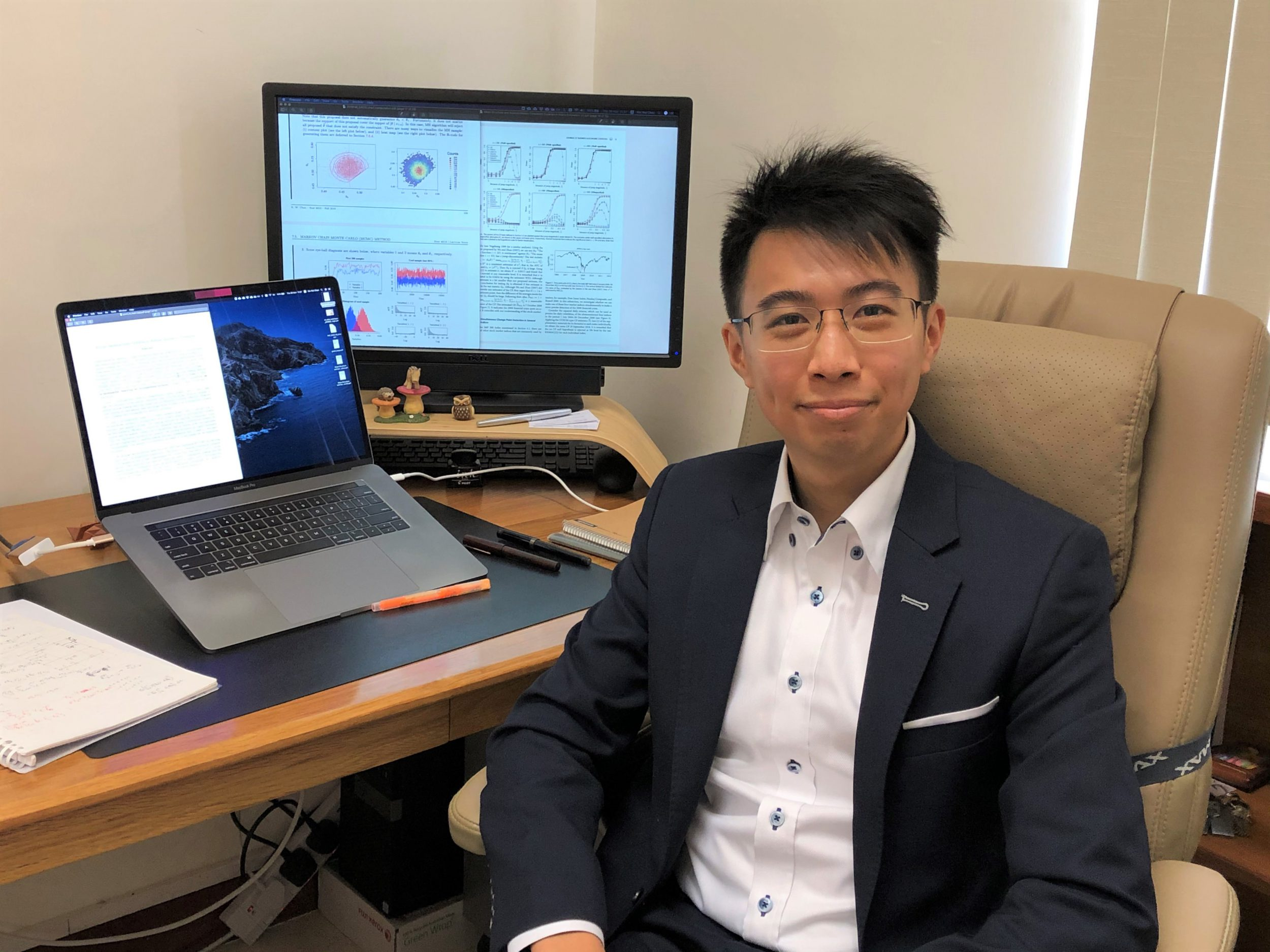 """Professor Chan has made his """"Bridge-building Dream"""" comes true when he started studying statistics."""