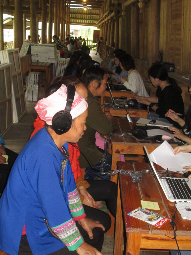 Villagers of Dimen participate in research led by Professor Wong.