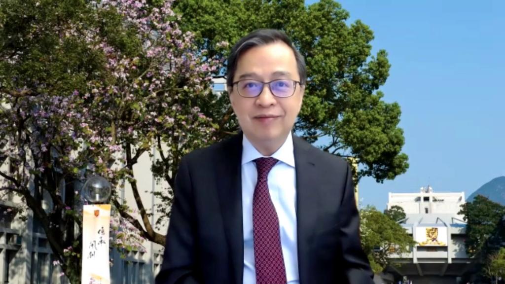 中大常務副校長陳金樑教授為頒獎典禮致開幕辭。