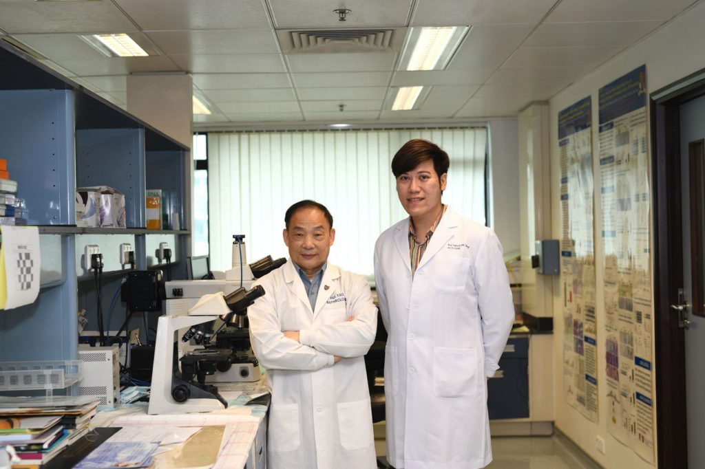 A novel virus-free anticancer gene therapy, developed by Dr. Patrick Ming Kuen TANG (right) and Professor Huiyao LAN (left), receives the Gold Medal with Congratulations of the Jury in the International Exhibition of Inventions Geneva 2021.