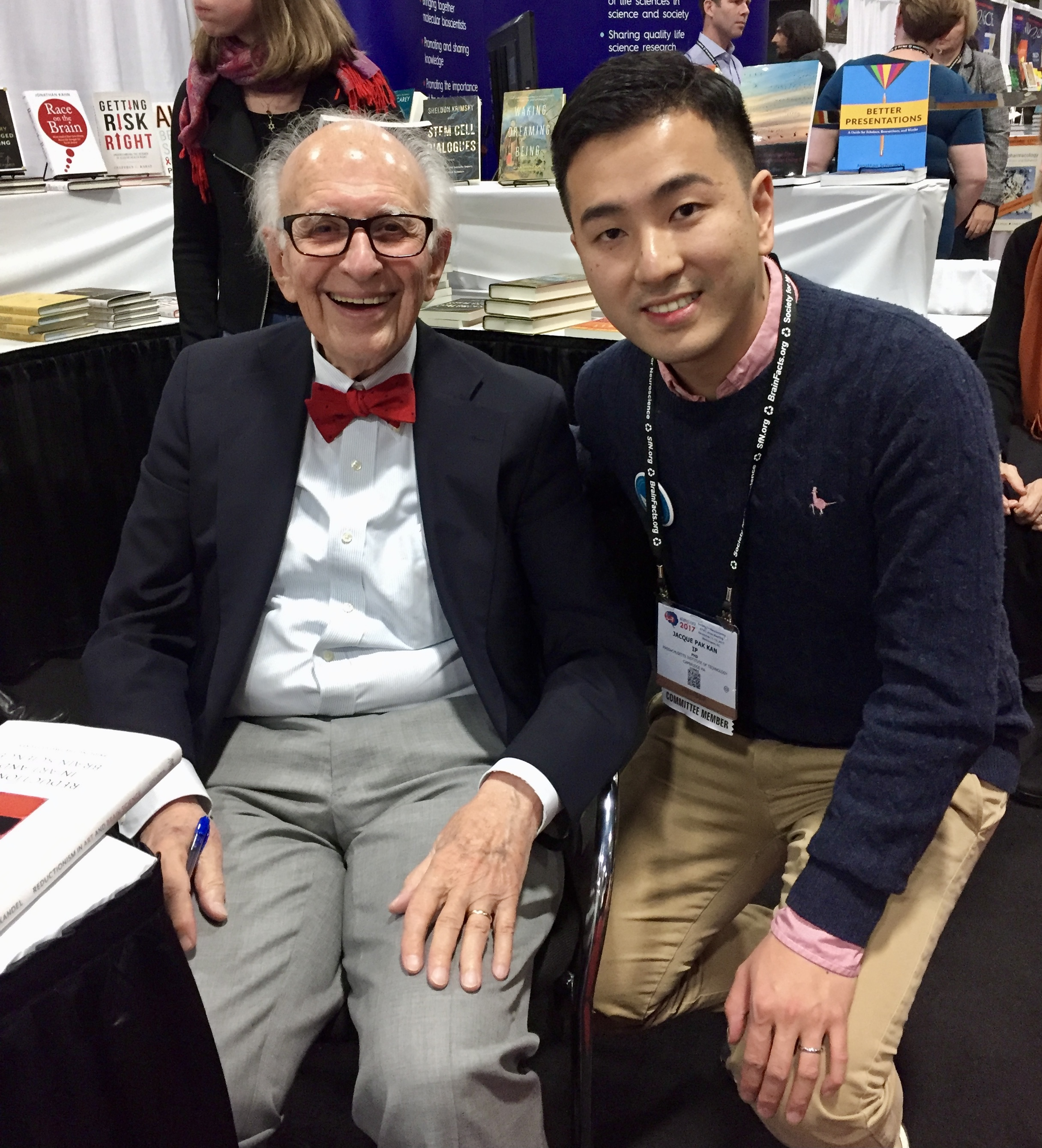 Prof Ip with Prof. Eric Kandel, Nobel Laureate and founder of the field of molecular neuroscience, at an annual neuroscience conference.