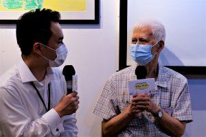 東華三院「伴我同行」喪親者支援服務使用者劉澤民先生於發布會上分享使用服務的經驗。