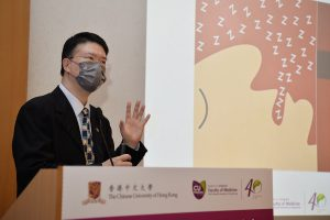 Professor Albert LI says snoring, night sweats and mouth breathing are some common symptoms of OSA. Other symptoms are daytime inattention, hyperactivity, sleepiness, and behavioural problems. Parents is suggested to seek medical advice if they find their children with these conditions.