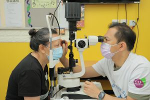 The Faculty organises eye checking activity with Lok Sin Tong Benevolent Society, Kowloon and the Hong Kong Baptist Hospital to provide eye care services and health education.