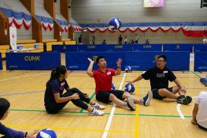 坐式排球體驗工作坊(攝於2019年11月)