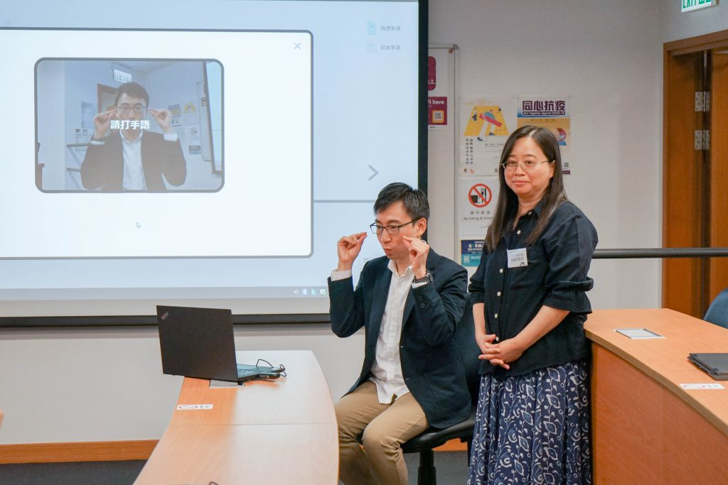 Mr. CHENG said that SignTown requires ordinary computer or laptops webcam to detect a three-dimensional sign language, including phonetic features like handshapes, orientations, and movements.
