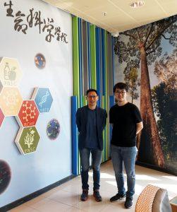 陳浩然教授(左)與陳哲凡博士。