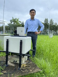 Professor Yim's research team has developed a Doppler Light Detection and Ranging (LiDAR) network system called 3DREAMS, which is the first-of-its-kind in Asia. One of the instruments was located at CUHK campus.