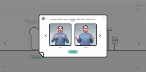玩家透過不同的手語來獲取相應的物品