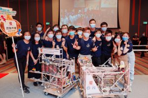 Most students in the team Sliver Strike first joined CUHK Robocon this year. They spent days and nights practising and adjusting the robots' settings before the competition.